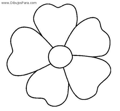 Silueta de una flor para colorear imagui - Siluetas para imprimir ...